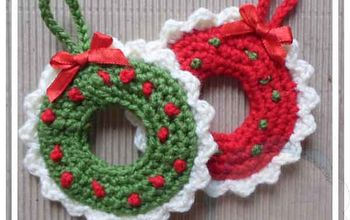 christmas wreath tree ornament, christmas decorations, crafts, seasonal holiday decor, wreaths