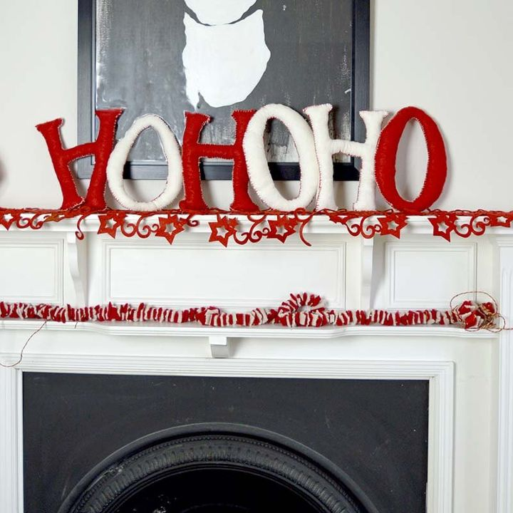 decorate your home with giant festive felt letters, christmas decorations, crafts, seasonal holiday decor