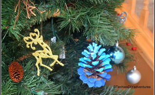 ombre painted pinecone ornaments, christmas decorations, crafts, seasonal holiday decor