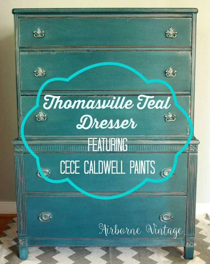 the thomasville teal dresser featuring cece caldwell paints, painted furniture