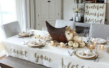 Count Your Blessings Cornucopia Thanksgiving Tablescape