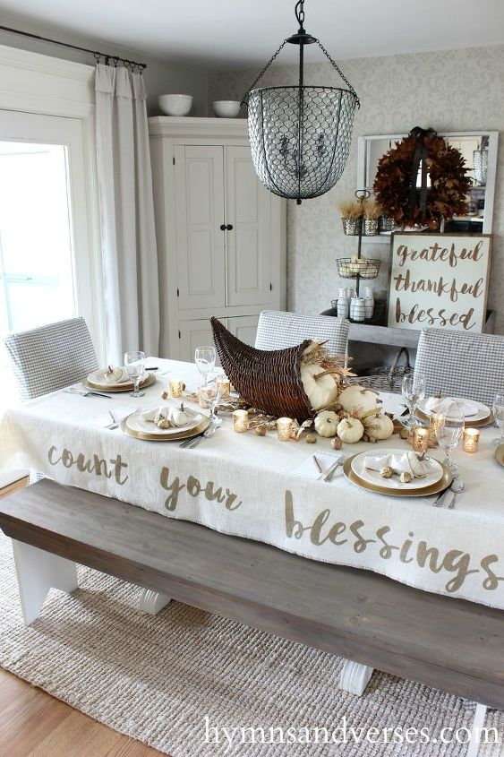 count your blessings cornucopia thanksgiving tablescape, seasonal holiday decor, thanksgiving decorations