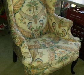Q Yard Sale Wing Back Chair, Painted Furniture, Repurpose Furniture,  Reupholster
