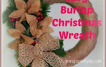 easy burlap christmas wreath, crafts, seasonal holiday decor, wreaths