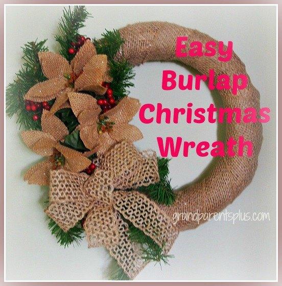 easy burlap christmas wreath crafts seasonal holiday decor wreaths - Burlap Christmas Wreaths