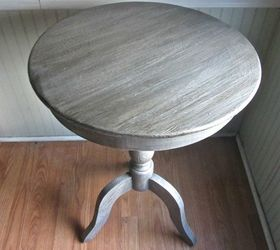 Superior Pedestal Table With Weathered Finish, Painted Furniture