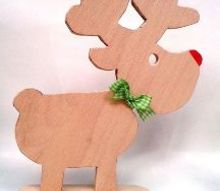 rudi reindeer christmas decoration scrap wood, christmas decorations, crafts, seasonal holiday decor