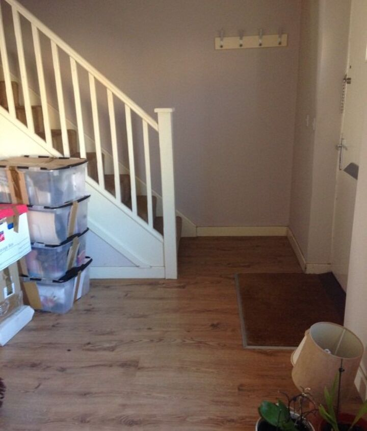 simple removable partition for an open plan lounge entrance, diy, doors, flooring, foyer, home improvement, hvac, painting