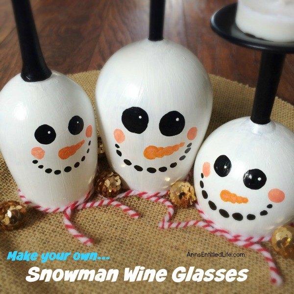 diy wine glass snowman, christmas decorations, crafts, how to, seasonal holiday decor