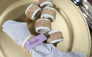 easy cork napkin ring place cards, crafts, seasonal holiday decor