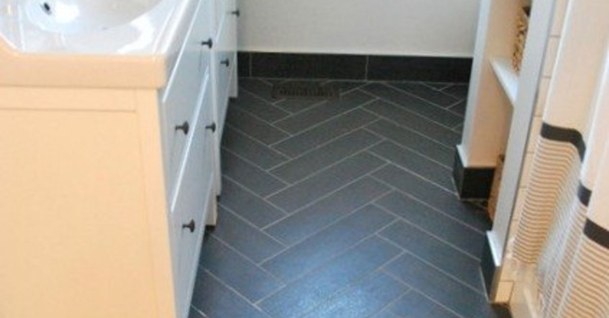 Bathroom Design Herringbone Tile Floor Ikea Vanities Hometalk