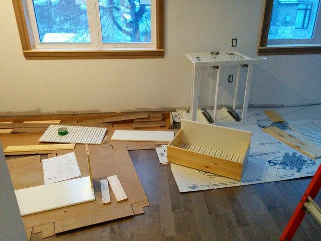 bathroom design herringbone tile floor ikea vanities, bathroom ideas, diy, flooring, home improvement, tile flooring