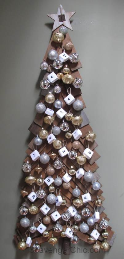 diy wood christmas tree and advent calendar christmas decorations diy seasonal holiday decor - Diy Wood Christmas Decorations