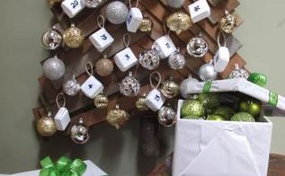 diy wood christmas tree and advent calendar, christmas decorations, diy, seasonal holiday decor, woodworking projects