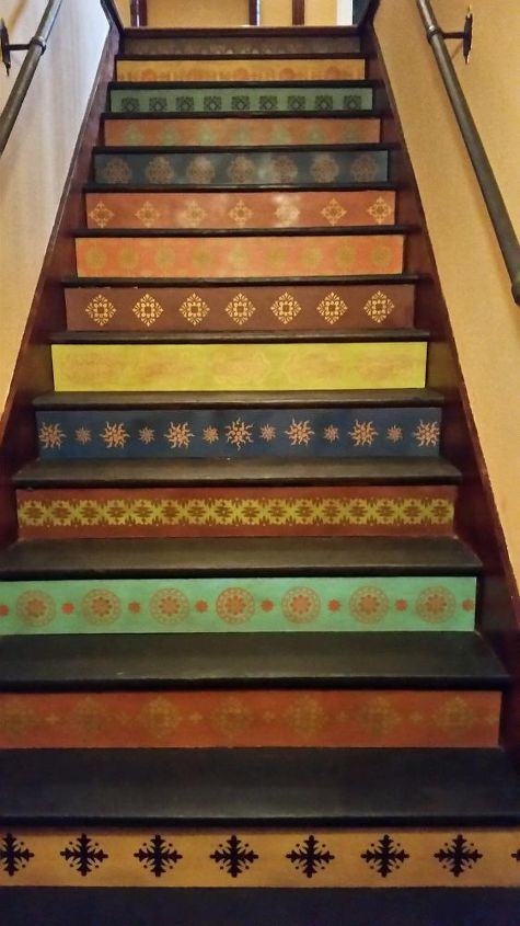 updated staircase, painting, stairs