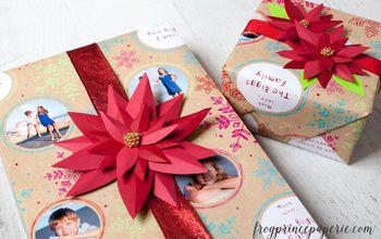 DIY Paper Poinsettia Tutorial for #Christmas Decor