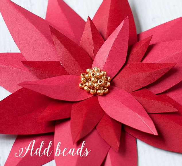 diy paper poinsettia tutorial for christmas decor, christmas decorations, crafts, how to, seasonal holiday decor
