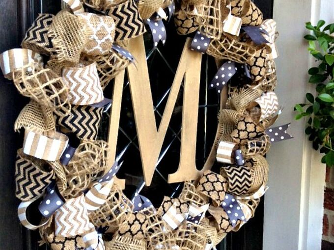 diy easy fall burlap wreath, christmas decorations, crafts, seasonal holiday decor, wreaths