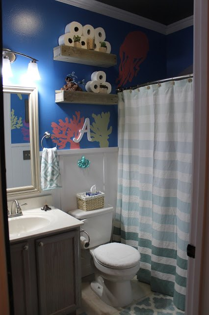 Diy Under The Sea Themed Kid S Bathroom Ideas Painting