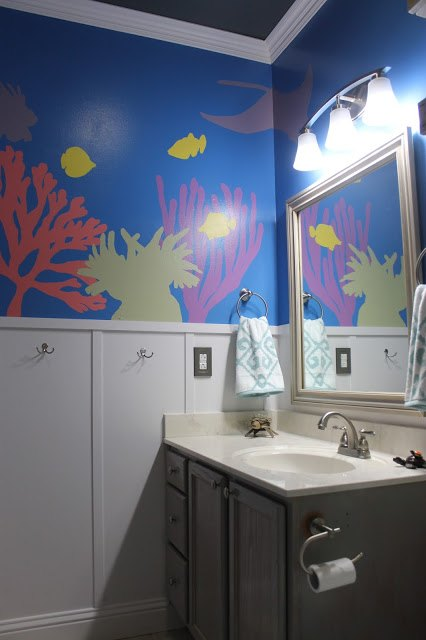 Adver Diy Under The Sea Themed Kid S Bathroom