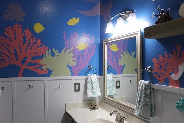 diy under the sea themed kid s bathroom  bathroom ideas  painting. DIY Under the Sea Themed Kid s Bathroom   Hometalk