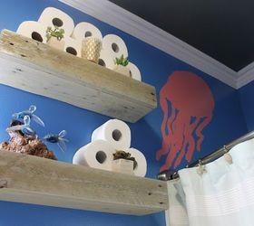diy under the sea themed kid s bathroom, bathroom ideas, painting