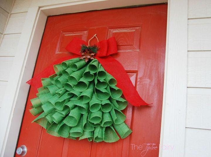 burlap christmas tree decor christmas decorations crafts seasonal holiday decor wreaths - Burlap Christmas Door Decorations