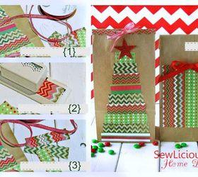 How to make a christmas tree gift bag