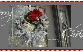 A Dramatic Holiday Wreath in Red and White