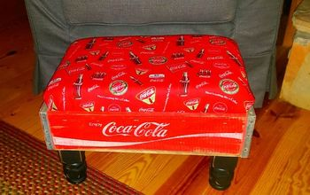 Warming My Feet on the Coca-Cola Crate Footstool
