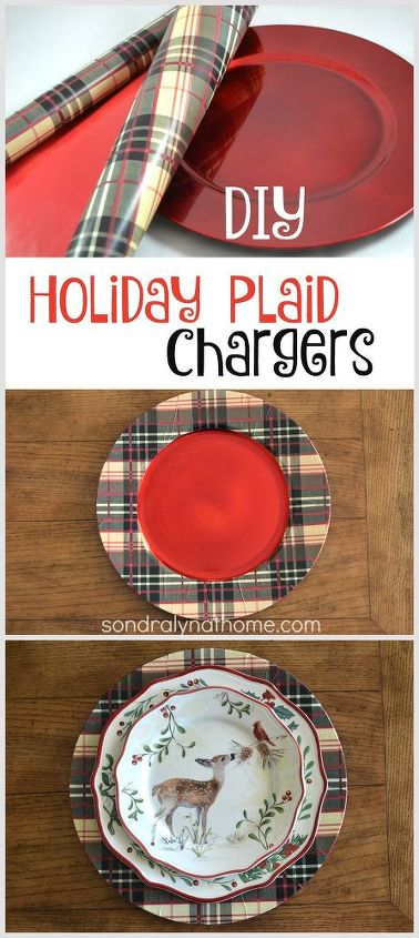 diy plaid holiday charger plates christmas decorations crafts seasonal holiday decor - Christmas Charger Plates