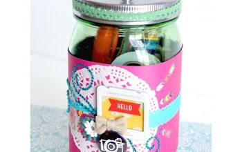 gift in a jar for scrapbookers, crafts