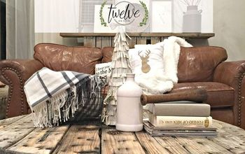 diy wire spool coffee table, diy, painted furniture, rustic furniture, woodworking projects