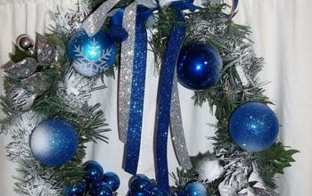 hanukkah wreath in progress, crafts, seasonal holiday decor, wreaths