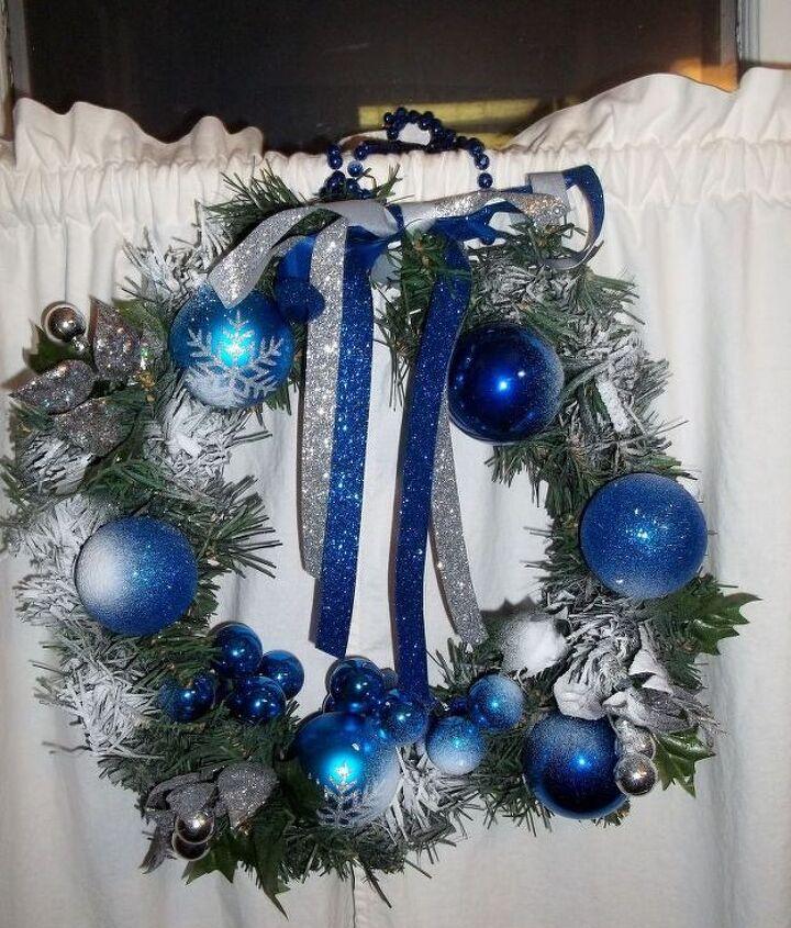 hanukkah wreath in progress, crafts, seasonal holiday decor, wreaths