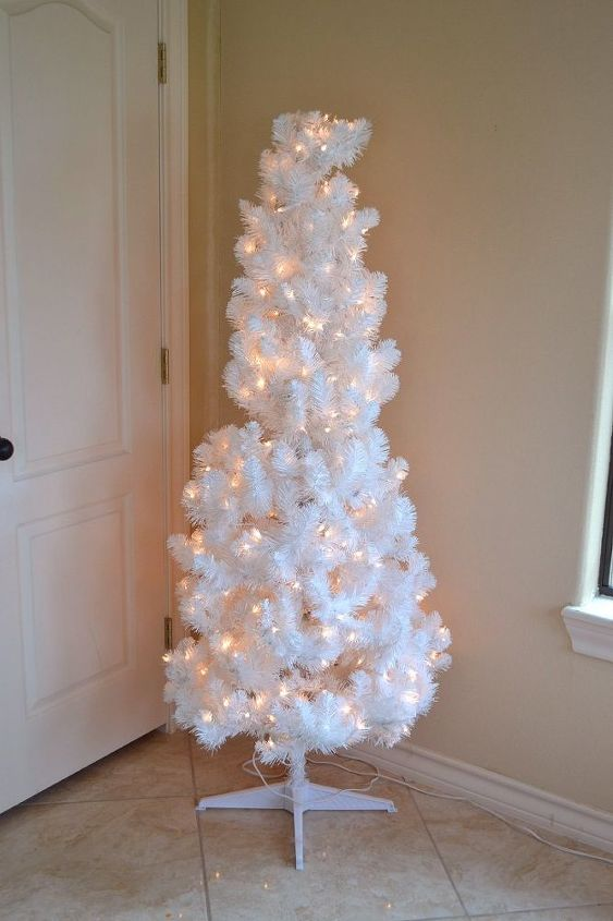 how to fill out a white artificial christmas tree rainbow ombre, christmas decorations, how to, seasonal holiday decor