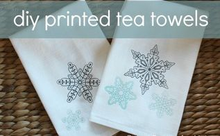 handmade gift idea diy printed tea towels, crafts, how to