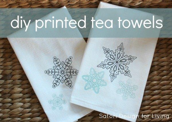 handmade gift idea diy printed tea towels, crafts, how to