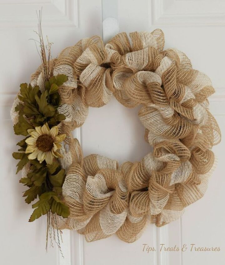 fall mesh ribbon wreath, crafts, seasonal holiday decor, wreaths
