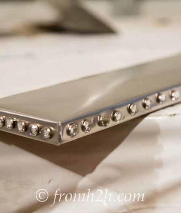 glitz and glam diy silver shelves, diy, how to, shelving ideas