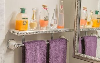 glitz and glam diy silver shelves, diy, how to, shelving ideas