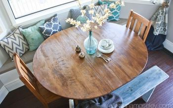 breakfast nook table makeover, kitchen design, painted furniture