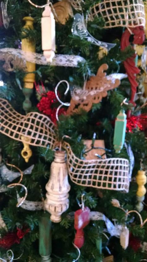 antique furniture parts make beautiful christmas ornaments tree  christmas  decorations  repurposing upcycling  seasonal. Antique Furniture Parts Make Beautiful Christmas Ornaments   Tree