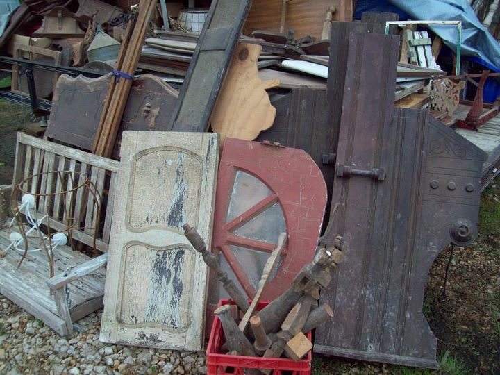 antique furniture parts make beautiful christmas ornaments tree, christmas  decorations, repurposing upcycling, seasonal - All Summer We Gathered Broken Chairs And Old Table Legs.