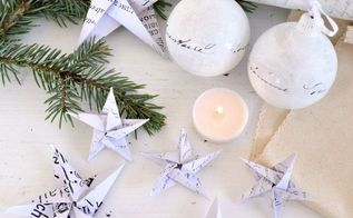 diy origami french paper stars free printables, christmas decorations, crafts, seasonal holiday decor