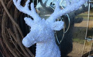 almost too easy deer christmas wreath, christmas decorations, crafts, seasonal holiday decor, wreaths