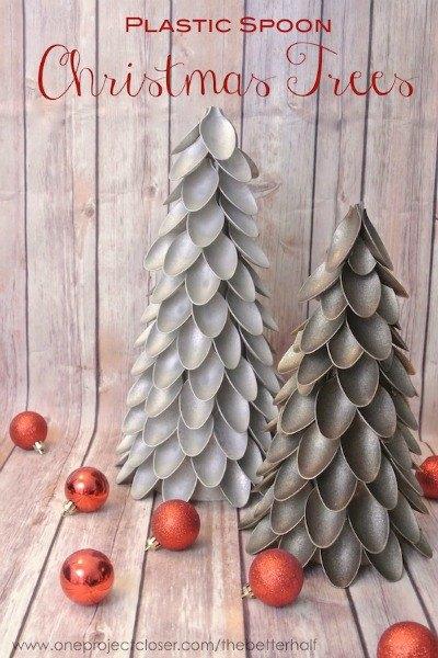 s 20 fake christmas trees you ll wish you d seen sooner, christmas decorations, repurposing upcycling, seasonal holiday decor, Plastic Spoon Pretties