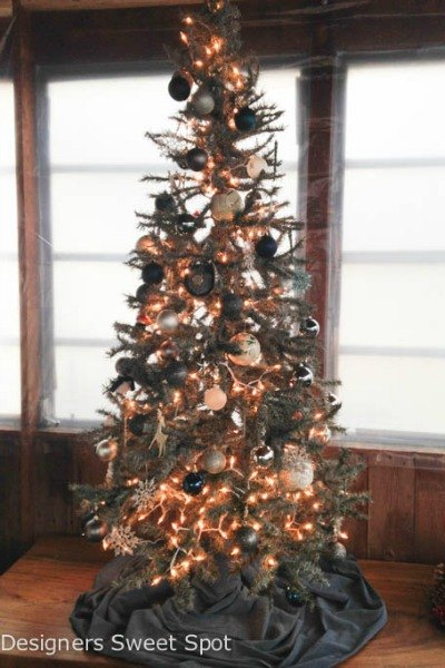 spray painted and stony - Fake Christmas Tree
