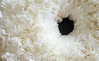 inexpensive winter white wreath from coffee filters great gift idea, christmas decorations, crafts, how to, repurposing upcycling, seasonal holiday decor, wreaths