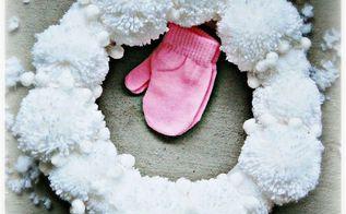 diy pom pom wreath, christmas decorations, crafts, seasonal holiday decor, wreaths